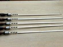 Шампур из нержавейки с ручкой 450 мм