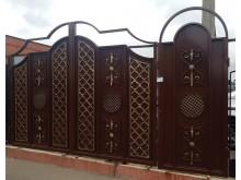 Ворота с калиткой  №-17