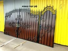 Ворота с калиткой №65