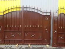 Ворота  с калиткой 3,3х2,35+1м  №-15