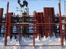 Каркас ворот 3,5х2м в комплекте столбы