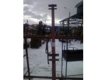 Столб 60х60мм высота-2,5м с уголками
