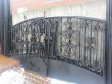 Ворота с калиткой 3,5х1,7+1 м  №-9