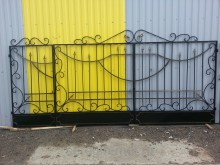 Ворота с калиткой 3,5х1,8+1м  №-8